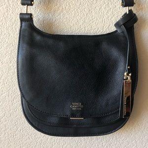 Vince Camuto black leather crossbody purse